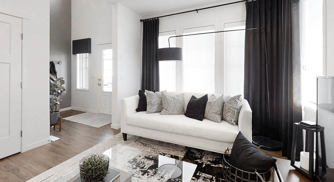 Real Estate Investment Property Highlight: Townhomes Living Room Image